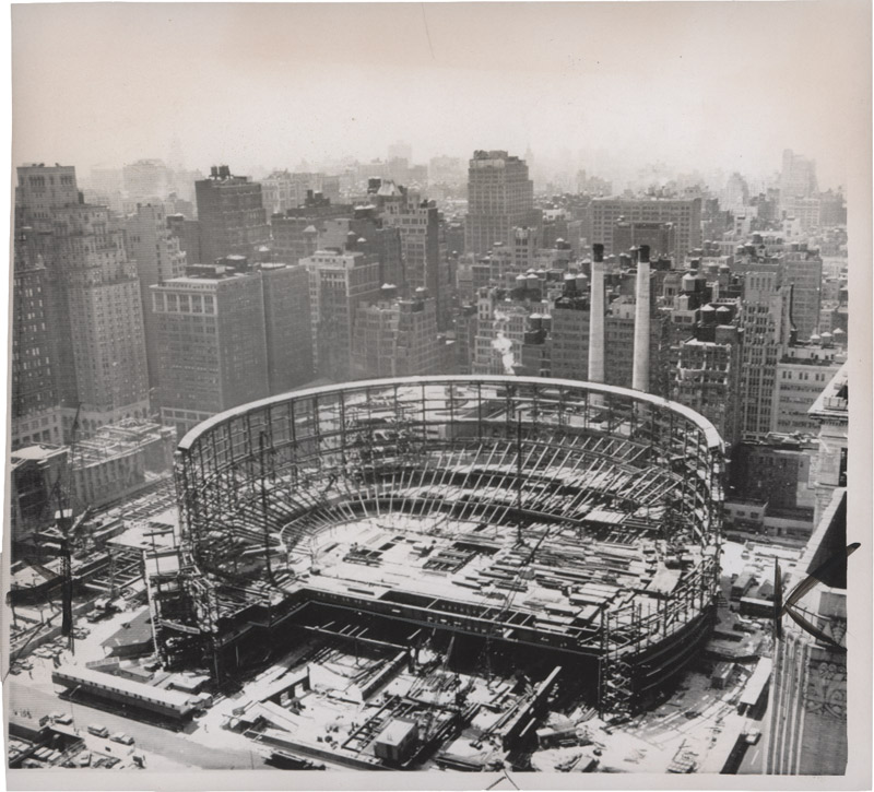 Madison Square Garden Construction And Nyc On Pinterest