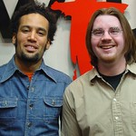 Ben Harper with Russ Borris at WFUV
