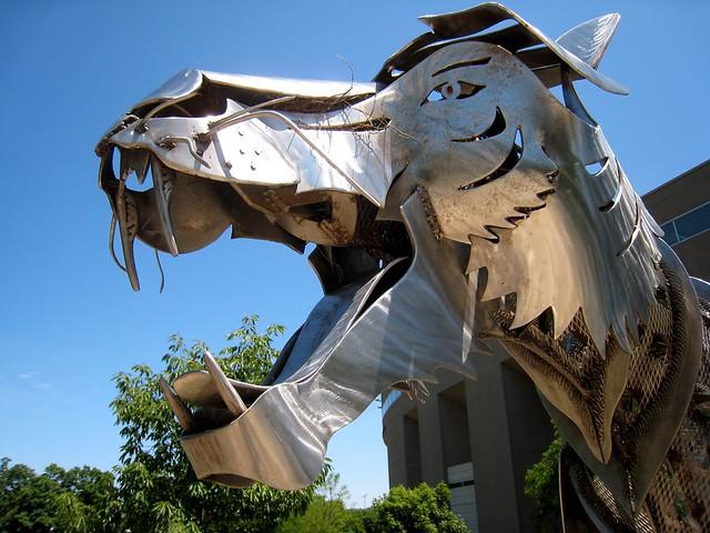 Princeton Metal Tiger Sculpture Flickr Photo Sharing