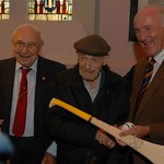 Eddie Keher presents hurley to Spanish Civil War veterans