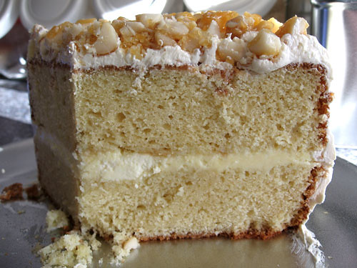 White Chocolate Macadamia Nut Cake