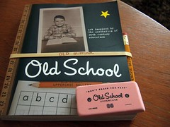 old school book and goodies
