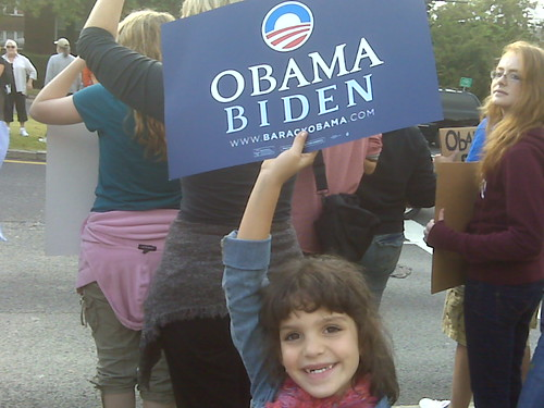 Obama march @ Belmont presidential debate - KIDS FOR OBAMA!!