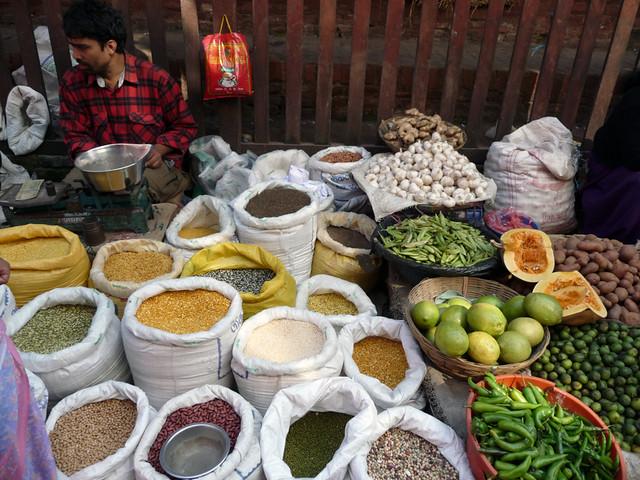 Durbar-Square-Kathmandu-rice-beans