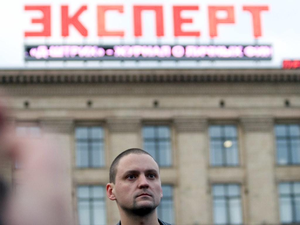 """Сергей Удальцов на митинге """"День гнева"""" 25 октября 2008"""