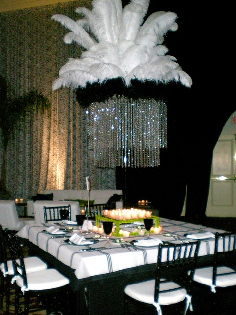 Feather wedding centerpiece huge ostrich feathers make