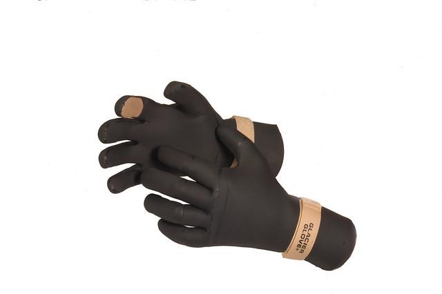 Premium waterproof cold weather neoprene fishing glove for Cold weather fishing gloves