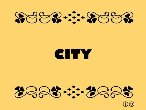 Buzzword Bingo: City