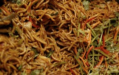 cellophane noodles(0.0), produce(0.0), crop(0.0), pad thai(0.0), noodle(1.0), mie goreng(1.0), bakmi(1.0), fried noodles(1.0), lo mein(1.0), japchae(1.0), pancit(1.0), hokkien mee(1.0), char kway teow(1.0), food(1.0), dish(1.0), yakisoba(1.0), chinese noodles(1.0), vermicelli(1.0), cuisine(1.0), chow mein(1.0),