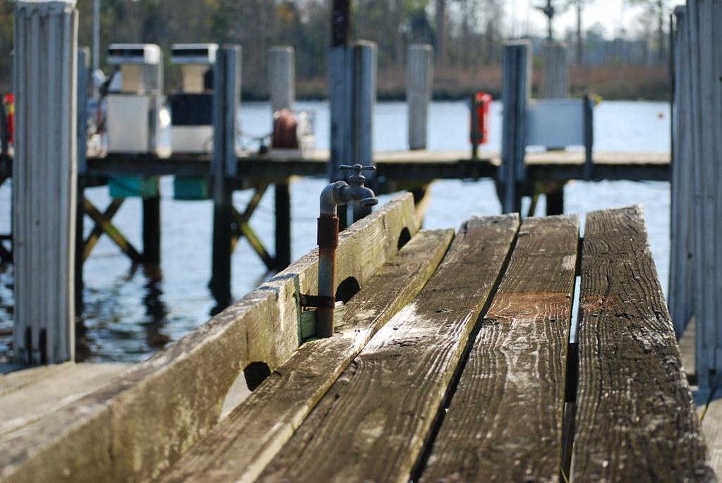 Table near docks