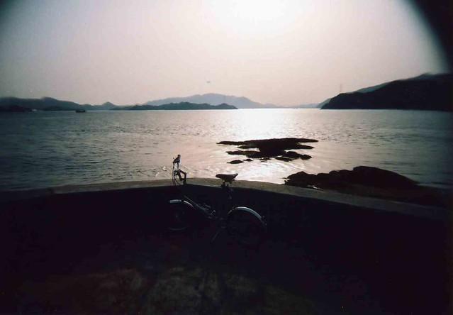 夕暮れサイクリング