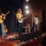 Thu, 11/03/2004 - 1:18pm - Rita Houston with Indigo Girls on stage at a WFUV Marquee member event