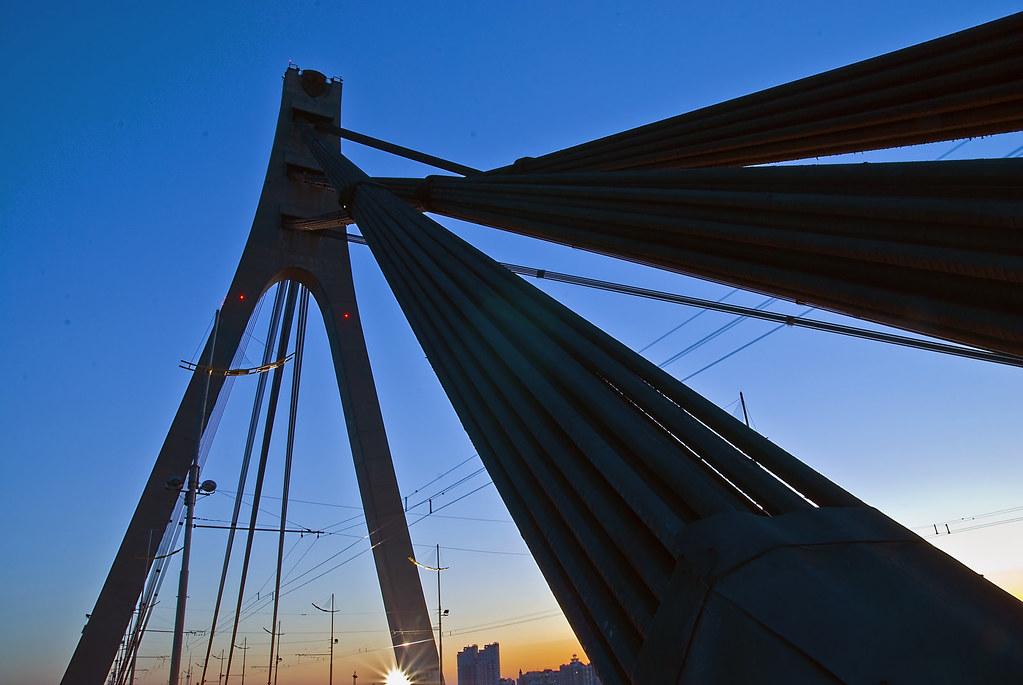 Ukraine, Kiev. Bridge.