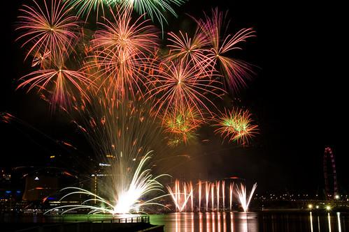 Singapore Fireworks Celebration Fireworks 2008 - Team Korea ( Korean Fantasia )