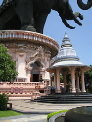 The incredible Erawan Museum in Bangkok, Thailand.