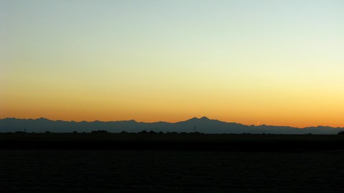 blue sunset orange brown white mountains silhouette colorado layers rockymountains