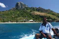 Boatman in the Yasawa islands, Fiji