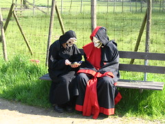 Demons on a bench