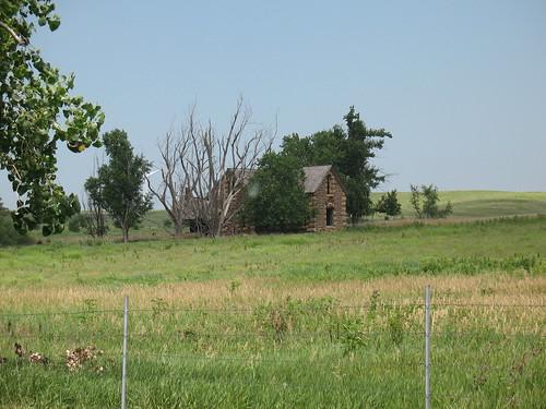 Old Cabin in Kansas - July 2008