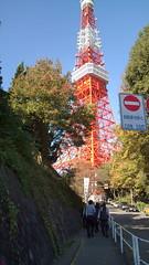 東京タワー接近中