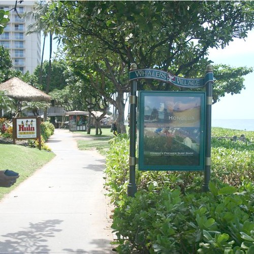 Easy access to Whalers Village along the Ka'anapali Beachwalk.
