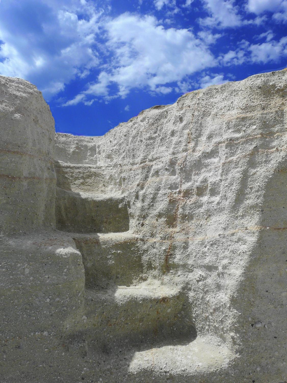 Steps and sky