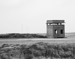 Fire Control Tower, Battery Mercer, Fort San Jacinto, Galveston, Texas 0521111402BW
