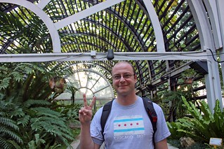Dan in the greenhouse in the Botanical Gardens.