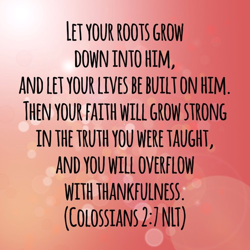 Colossians 2:7 NLT