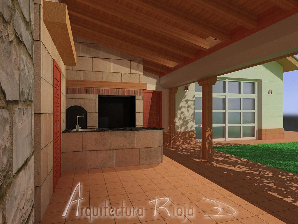 Blog arquitectura rioja3d porche con barbacoa - Porches con barbacoa ...