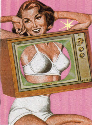 Boob Tube ACEO Collage