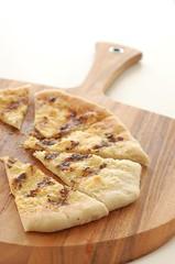 bread(0.0), baked goods(0.0), produce(0.0), naan(0.0), meal(1.0), breakfast(1.0), flatbread(1.0), food(1.0), focaccia(1.0), dish(1.0), cuisine(1.0),