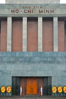 Image of Ho Chi Minh Mausoleum near Quận Ba Đình. architecture memorial asia southeastasia vietnam mausoleum hanoi revere hochiminh hochiminhmausoleum immortalize immortaliphotooriginal
