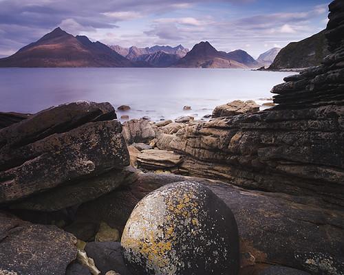 skye beach landscape scotland rocks scottish shore cuillins elgol nohdr