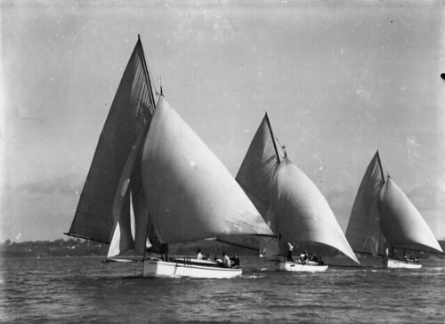 Yachts Calypso, Celoz and Waitere ca1910