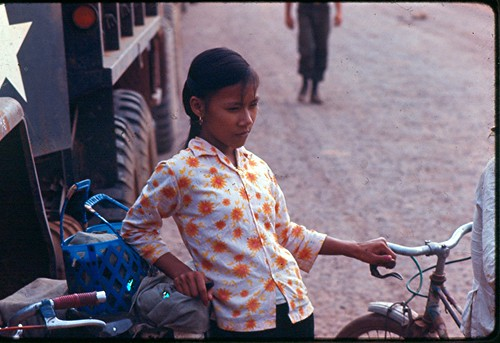 Coke Girl - Convoy Point - Sagion - 1967 by 7th Surgical Hospital (MA)  Vietnam