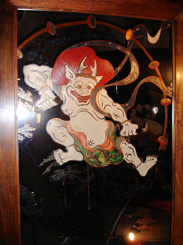 Représentation d'un Kami : Raijin (雷神) ou Raiden (雷電), dieu du tonerre