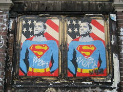 Barack Obama as Superman Paste-Up by Mr. Brainwash