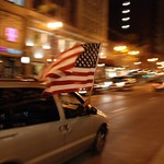 State Street, Chicago - election night