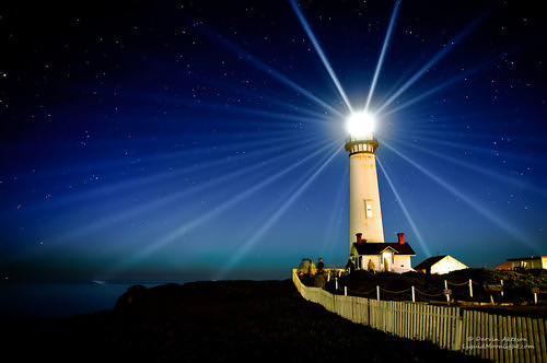 Pigeon Point Lighthouse - Star on the Pacific