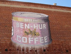 Ben-Hur Drip Coffee Sign on Brick