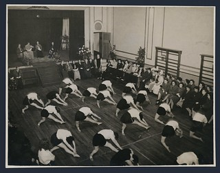 Gymnastic performance at YWCA Hostel, Boulcott Street, Wellington, August 1946
