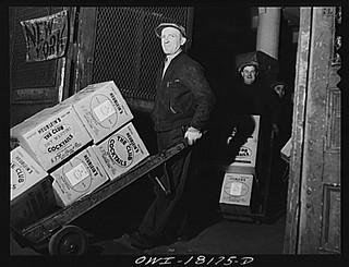 Unloading goods