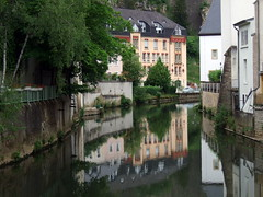 town, water, river, body of water, house, estate, reflection, canal, neighbourhood, waterway, moat,