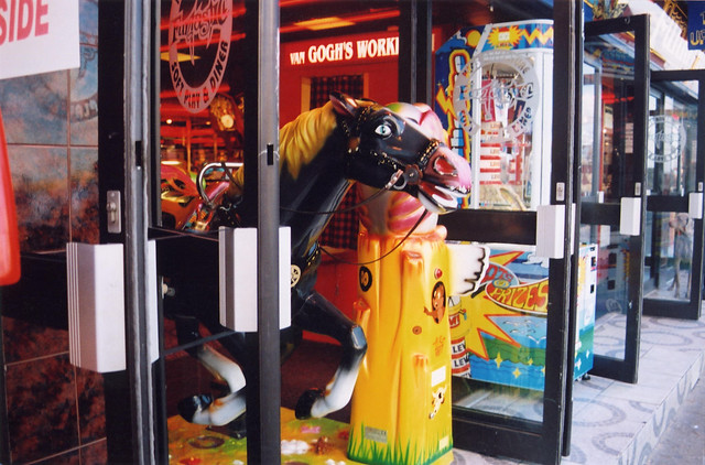 Whitby Amusement Arcade with Coin Operated Galloping Toy Horse Ride