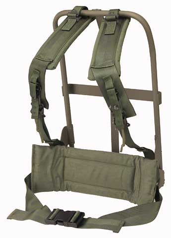 US ARMY ALICE frame, shoulder straps, and kidney pad
