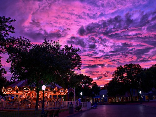 Adventureland USA Sunset - HDR by Express Monorail