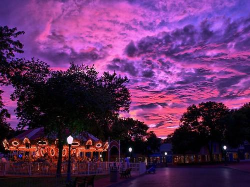 pink sunset sky sunlight colors beautiful clouds geotagged colorful purple dusk carousel iowa handheld amusementpark hdr highdynamicrange adventureland altoona capitolheights expressmonorail dynamicphotohdr nikond300 joepenniston adventurelandusa geo:lat=41653872 geo:lon=93499754