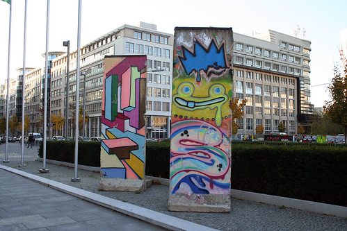 Graffiti pieces of the Wall in Berlin, Kreutzberg area