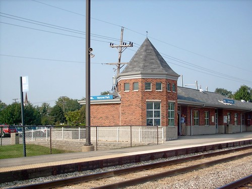The Hanover Park Metra commuter rail station. Hanover Park Illinois. September 2007. by Eddie from Chicago